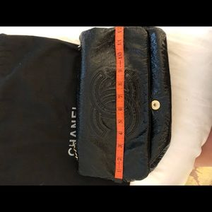 CHANEL Bags - Chanel black patent leather purse gold chain&clasp